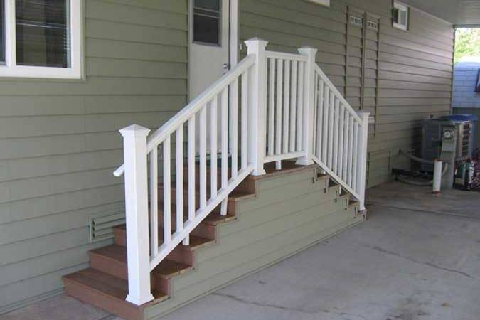 Above Custom Mobile Home Type Steps Which Can Built