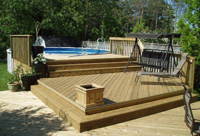 Above Ground Pool Decks Round Deck Plan