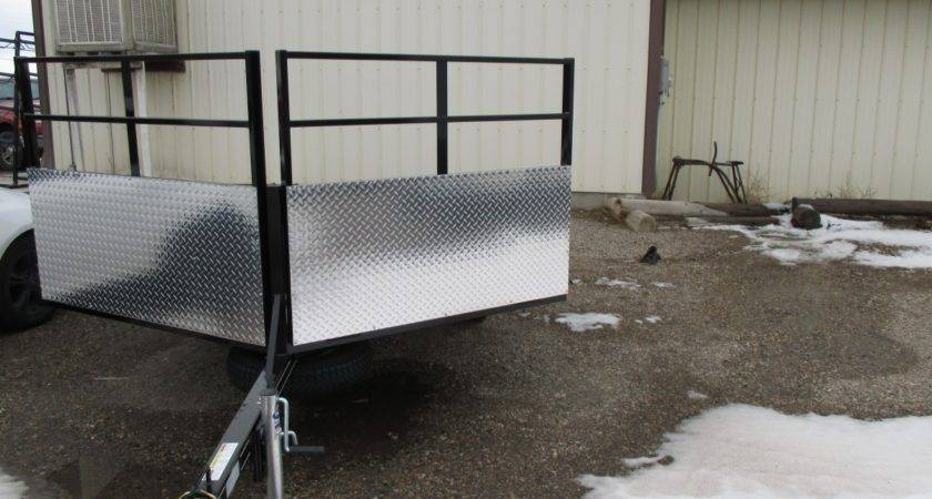 Adams Place Open Snowmobile Atv Trailer