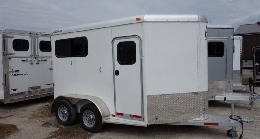 Adams Trailers Horse Straight Load Sale Canada