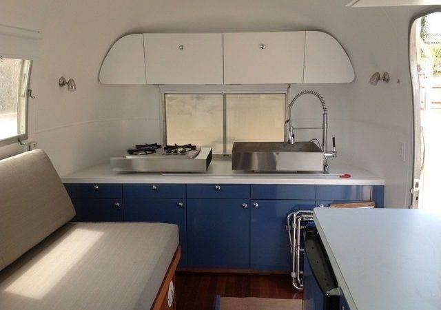 Airstream Trailer Remodel Contemporary Kitchen Santa