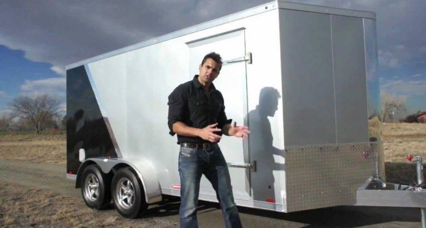 All Aluminum Motorcycle Cargo Trailer Youtube
