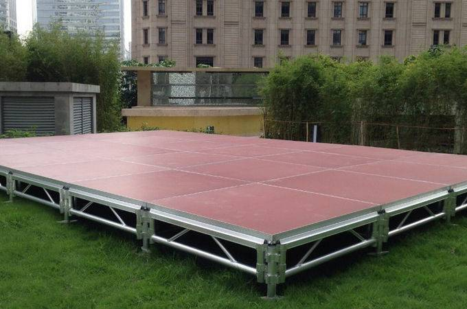 Aluminum Movable Stage Platform Thinkness Anti