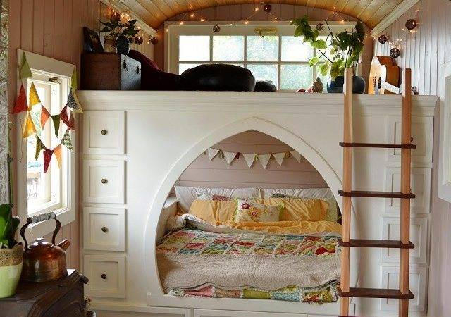 Amazing Tiny School Bus Cottage Home Design Garden