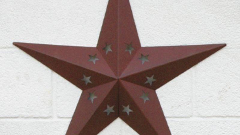 Amish Extra Large Barn Star Circle Cut Out