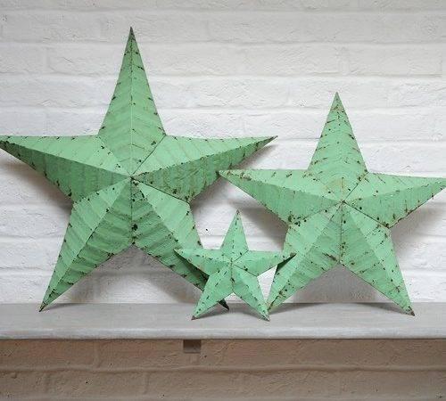 Amish Metal Barn Stars Painted Decorative Very