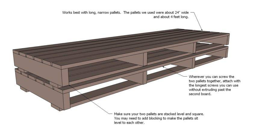 Ana White Pallet Sofa Tacoma Perry Diy Projects