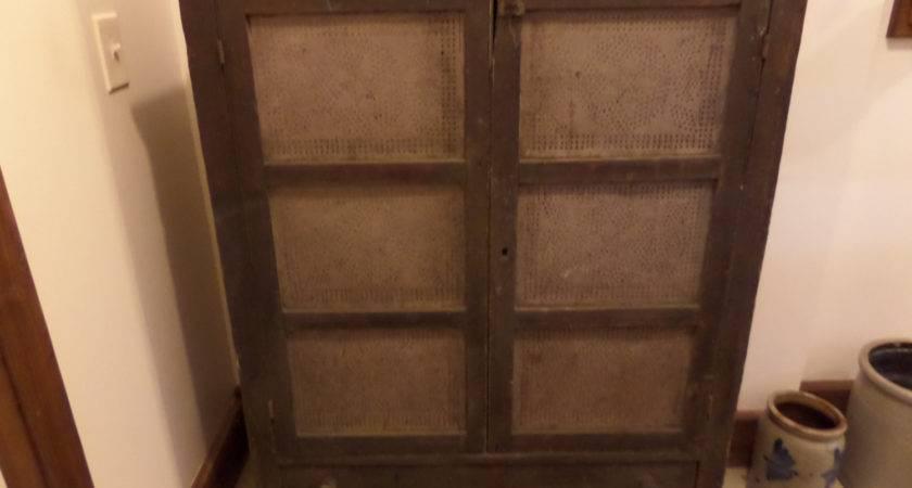 Antique Furniture Primitive Ohio Pie Safe Buckeyeantiques