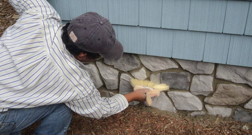 Architecture Fascinating Faux Stone Siding Wall