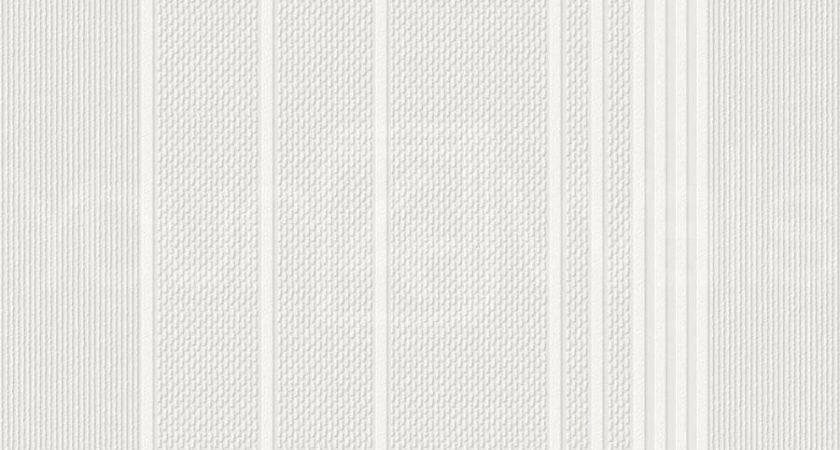 Ariel White Paintable Textured Striped