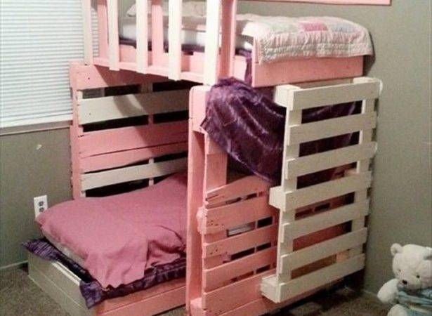 Astonishing Ideas Pallet Loft Bunk Beds Wood