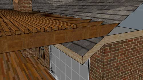 Attaching Pergola Shingle Roof