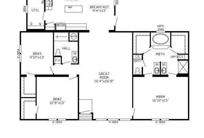 Avalon Series Floorplans Triple Wide Homes Karsten