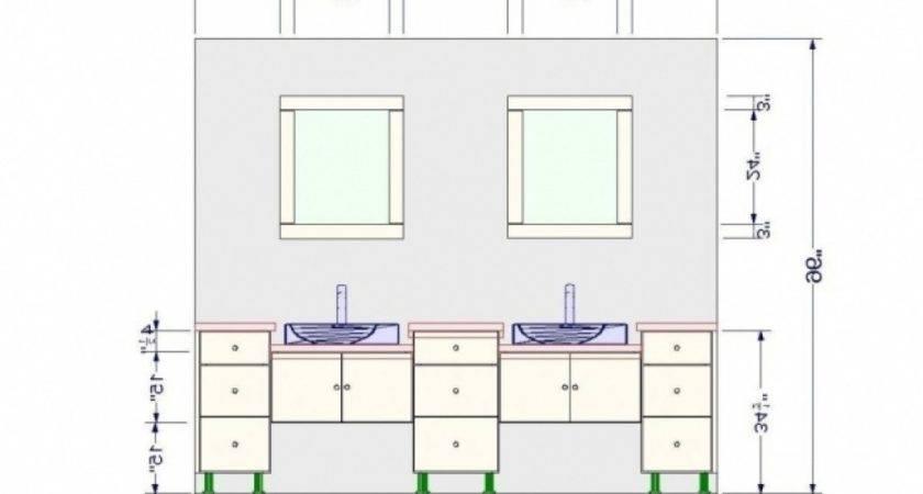 Average Bathroom Sink Height Vanity Light