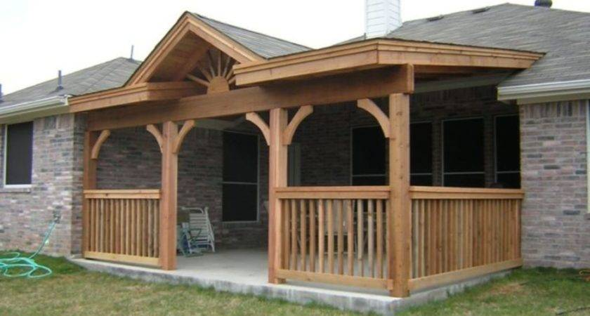 Back Porch Designs Ranch Style Homes Front