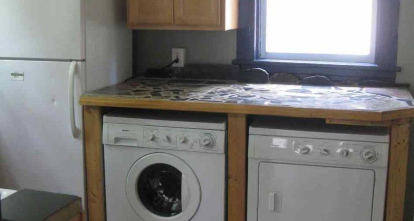 Barn Door Cabinets Hide Washer Dryer Kitchen