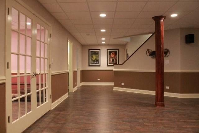 Basement Flooring Ideas Hall Contemporary Art Bench