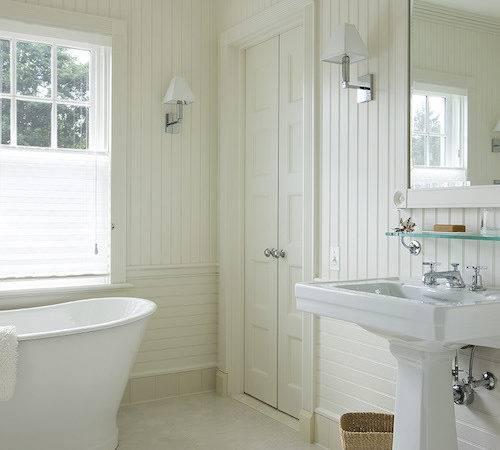 Bathroom Beadboard Backsplash Cottage