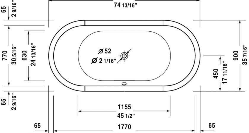 Bathroom Compact Bathtub Length