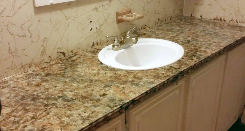 Bathroom Counter Top Transformation Part Mobile Home