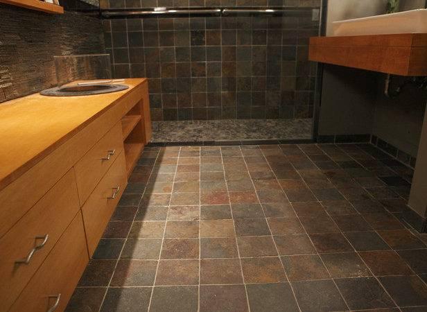 Bathroom Flooring Ideas Grasscloth