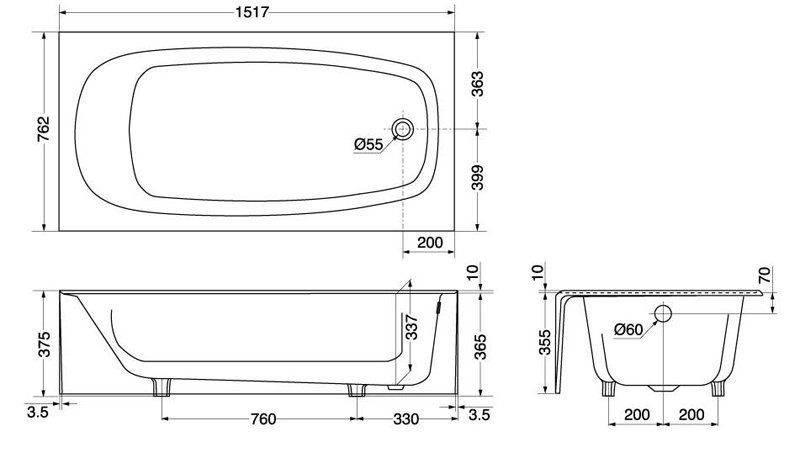 Bathtubs Idea Amusing Standard Tub American