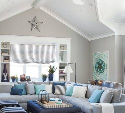 Beach Style Living Room Design Ideas Remodels Photos