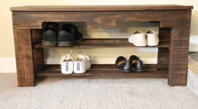 Beautiful Pallet Shoe Rack Your House