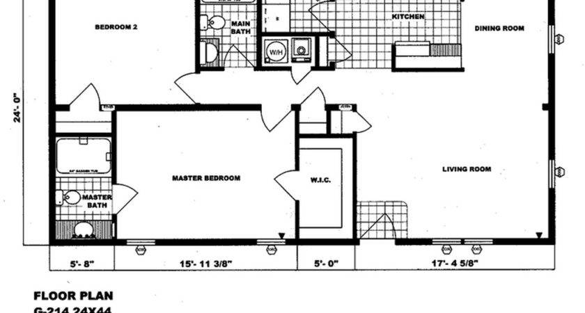 Bedroom Bath Mobile Home Floor Plans Style