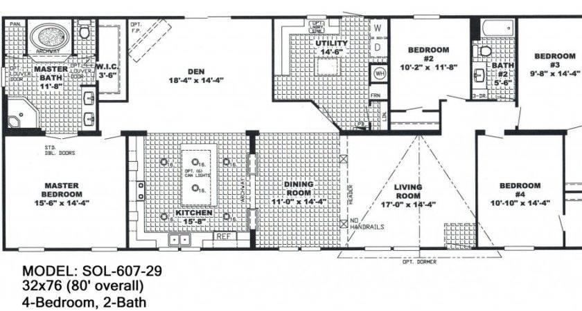 Bedroom Double Wide Mobile Home Floor Plans Unique