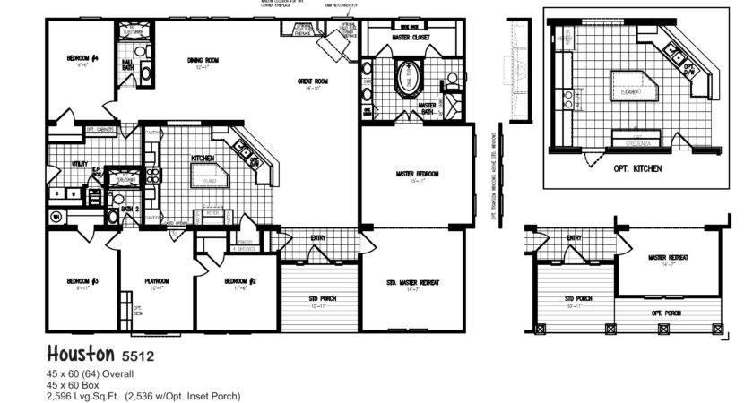 Bedroom Double Wide Mobile Home Floor