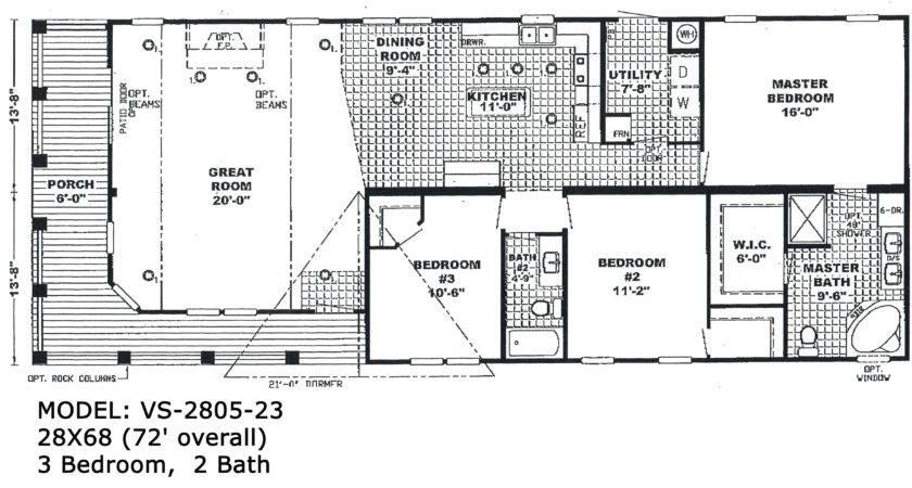 Bedroom Single Wide Trailer Floor Plans