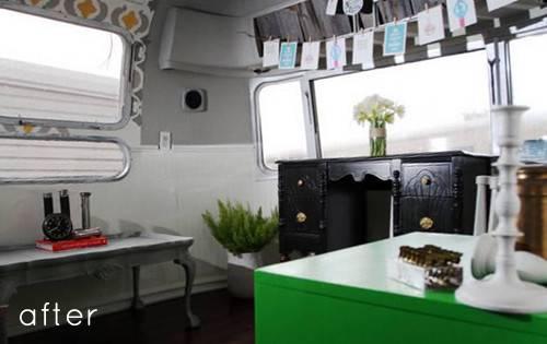 Before After Airstream Trailer Makeover Design Sponge