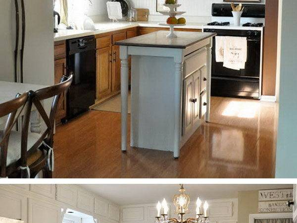 Before After Budget Friendly Kitchen Makeover