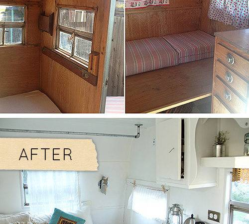 Before After Camper Gets Stylish Overhaul