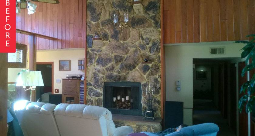 Before After Fireplace Gets Facelift Apartment