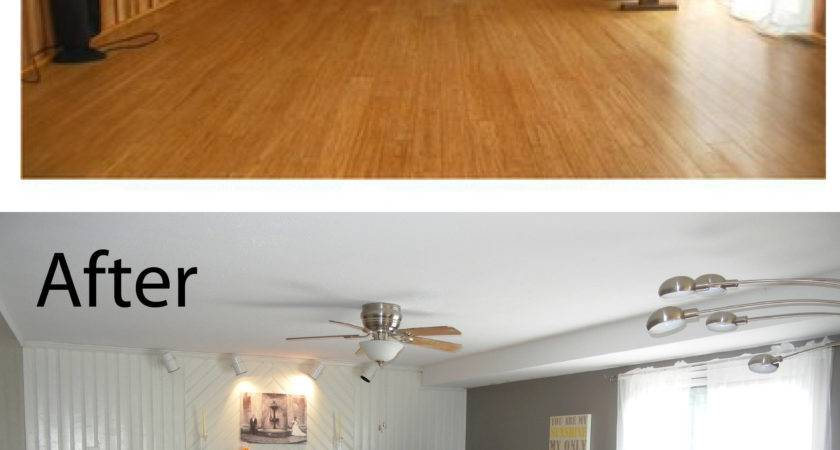 Before After Gray Yellow Room