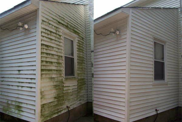 Before After House Mold Siding