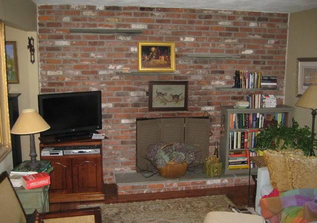 Before Era Brick Wall Fireplace