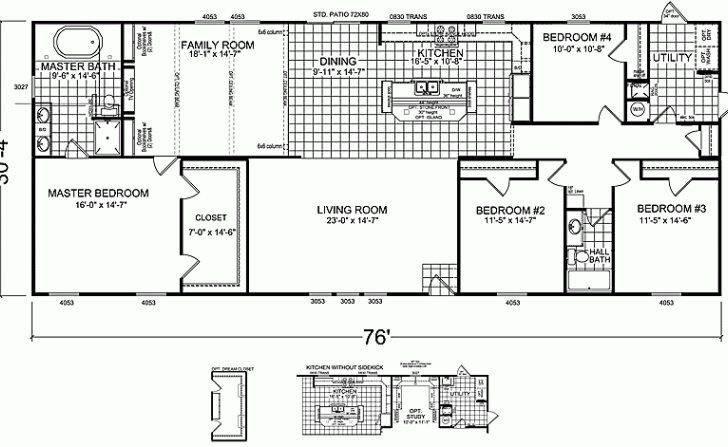 Best Bedroom Double Wide Mobile Home Floor Plans New