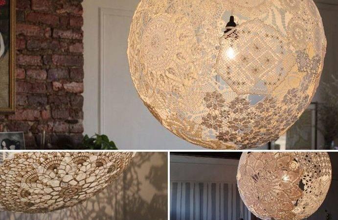 Best Doily Lamp Ideas Pinterest Diy Lace Light