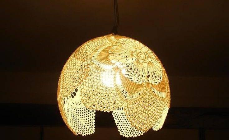 Best Doily Lamp Pinterest