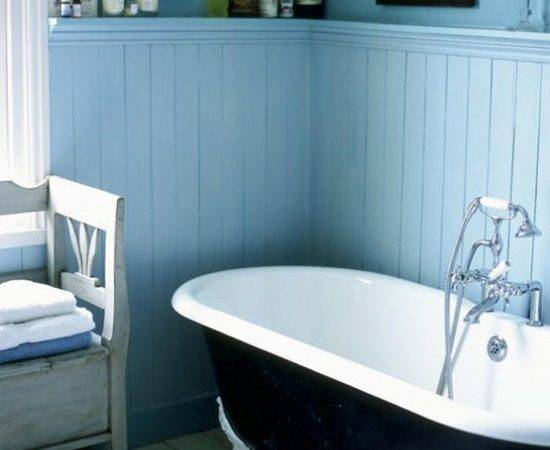 Blue White Bathroom Traditional Decorating