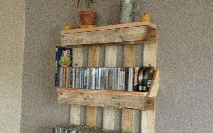 Bookshelf Out Pallets Shelves Made Abc