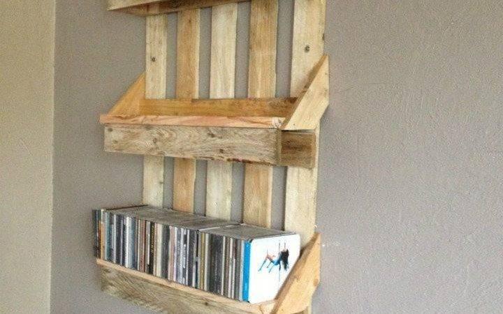 Bookshelf Out Pallets Shelves Made