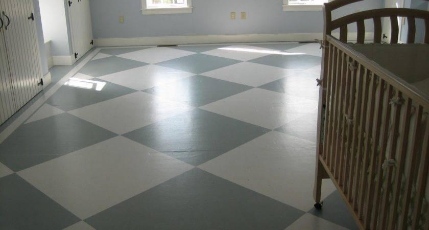 Boys Room Painted Subfloor Tutorial