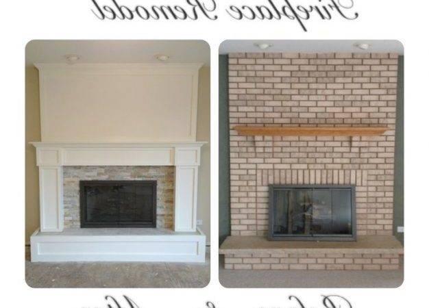 Brick Fireplace Remodel More Nice