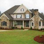 Brick Stone Combination Home Design Ideas