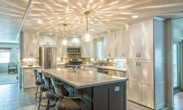 Bright Modern Manufactured Home Kitchen Remodel
