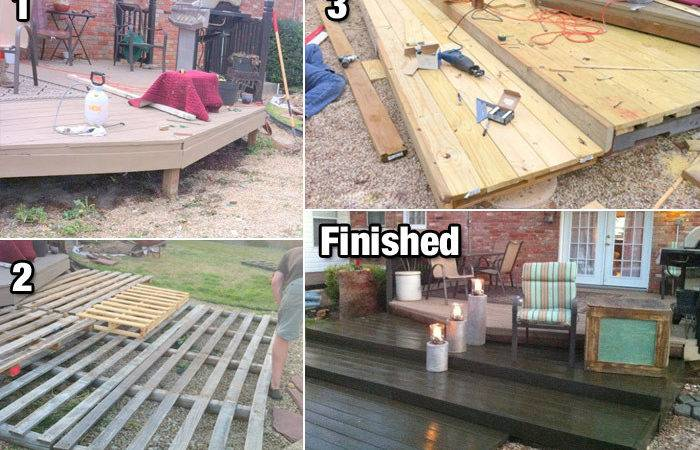 Build Diy Deck Wood Pallets Cheap Life